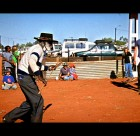 Spear throwing competition at Yuendumu Sports Weekend 2006