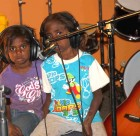 Children from Assembly of God in the PAW Music Studio