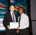 Dennis Charles recognised at NT Young Achiever Awards