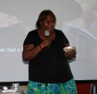Elizabeth Katakarinja receiving Remote Media Festival award in 2010