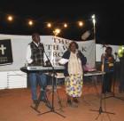 Faith Walk congregation at open air church