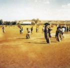 Sack race at Yuendumu Sports Weekend 1950s
