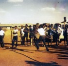 Spear throwing at Yuendumu Sports circa 1950s