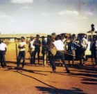 Spear throwing at Yuendumu Sports Weekend ca 1950s