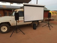 New Portable Video Projector Screen and Sound System