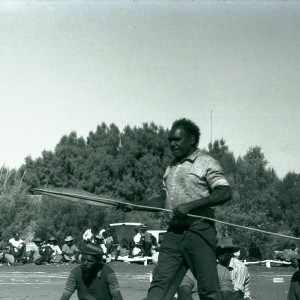 Archival photographs shown at Yuendumu Sports Weekend