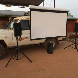 New Portable Video Projection System for Community Screenings